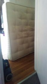 Kingsize sprung mattress free for collection
