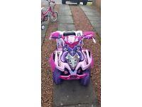 Kids battery operated princess quad bike