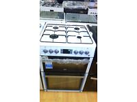 BEKO dual fuel 60cm gas cooker with grill and oven new ex display