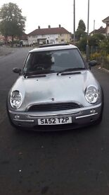 clean mini inside an out cd panoramic roof mot runs lovely only sellin as bigger fsmily car needed.