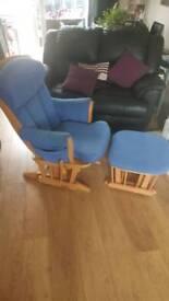 Dutailer glider nursing chair and foot stool
