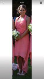 Beautiful Coral Chiffon Bridesmaid/Occasion Dresses size 10-14