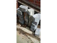 block paving kerbs dark grey