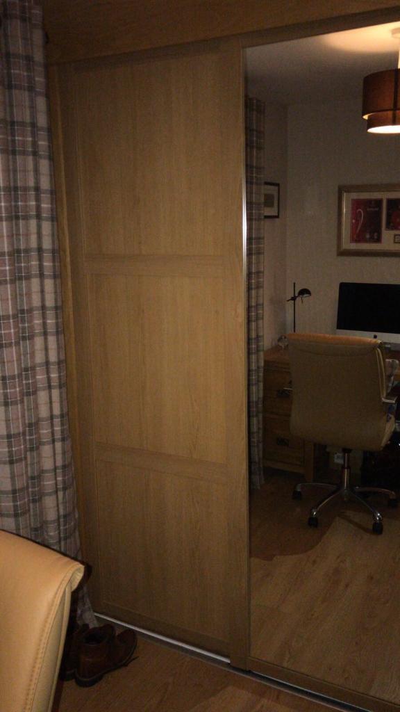 best website 66862 9c6d8 Oak sliding doors and mirrored door for sliderobes | in Antrim Road,  Belfast | Gumtree