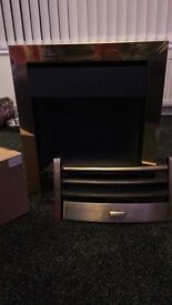 Kinder oasis gas fire brass with remote
