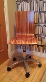 Wooden effect office chair