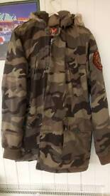 Mens superdry rescue army jacket