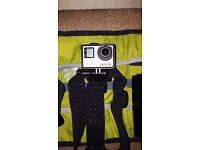 Gopro hero 4 black with many accessories