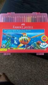 Fabwe Castle Water Colour GRIP 24 pwncils (with accessories)