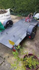 Low riding homemade Motorcycle trailer