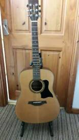 Tanglewood used acoustic guitar with stand