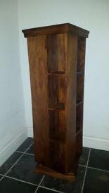 Very good quality (John Lewis) dark wood CD/DVD rack