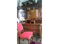 DRESSING TABLE WITH MIRROR AND CHAIR