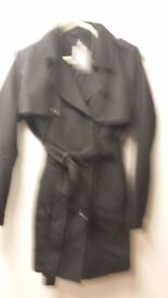 Black trench coat size 12 with tags on collection only from howdon cant drive so no delivery