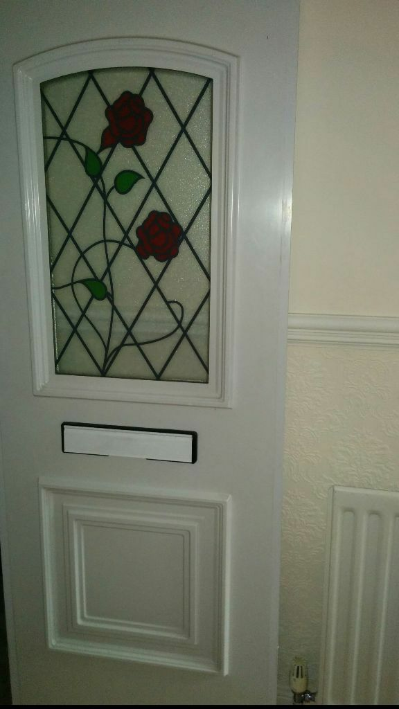White upvc front door bottom panel letterbox and a red for Upvc front doors for sale