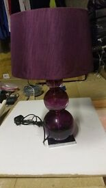 Next Purple Glass Table Lamp