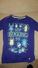Joules T shirt age 9-10 bug design