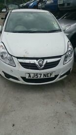 VAUXHALL CORSA CDTI 2007 CAR DERIVED VAN - FOR PARTS ONLY