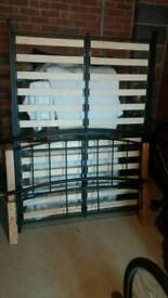 Terra wood and metal frame bed.excellent condition.
