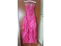 Hot Pink Evening/ Prom Dress - Size 6
