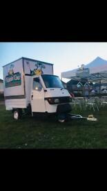 Piaggio ape, piaggio ape 50,catering trailer,tuk tuk,food truck,burger van