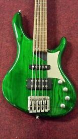 Washburn RB2502 Hammerhead 5 string bass guitar