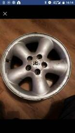 Four 5 stud alloys wheels with no tyres