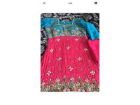 Asian fancy 3 Piece suit in hot pink & blue