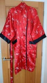 Silk Chinese dressing gown