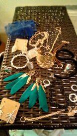 Assortment of fashion jewellery 13plus items new