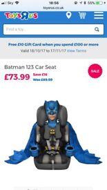 Bat mAn Car seat