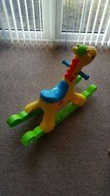 Sit on giraffe with Music & Lights