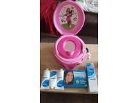 Advanced teeth whitening kit (sealed) 3 oilatum shower gels (sealed) musical minniemouse potty
