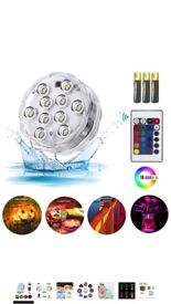 Submersible led Light,RGB Waterproof Mood Lights with Remote Control for Hot Tub,Vase Base