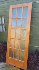 Hard wood, 15 glass panel internal door