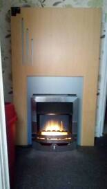 Nice and cosy electric fireplace in good condition