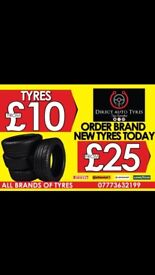 Part worn tyres for £9.99