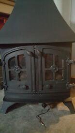 cast iron gas stove log burner