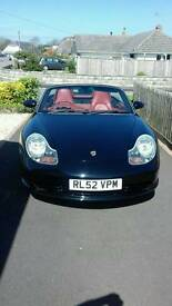 Porshe boxter 3.2 s mot until November and in lovely condition with fsh with new car stereo cd.