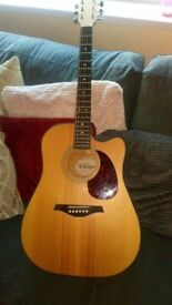 Vintage electro acoustic guitar in mint condition