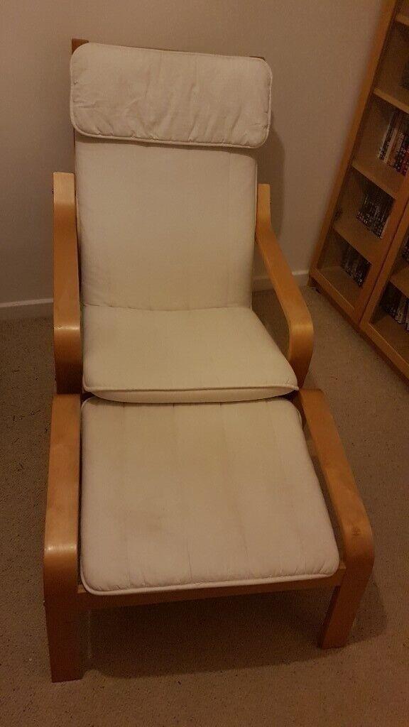 Ikea Poäng Armchair Footstool In Stapleford Nottinghamshire