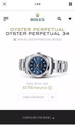 2015 Rolex oyster perpetual 2015