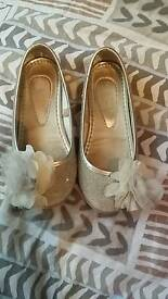 Monsoon children party shoes size 8 in good condition