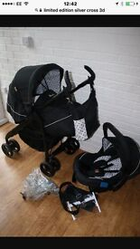 Limited edition 3D silvercross pram