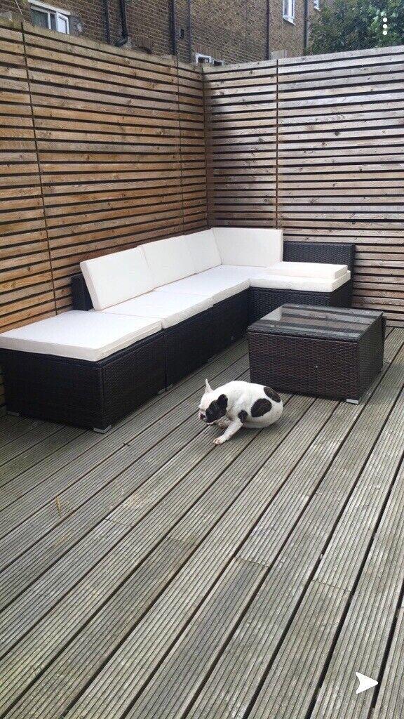 Awe Inspiring Rattan Garden Corner Sofa Table In Acton London Gumtree Home Remodeling Inspirations Genioncuboardxyz