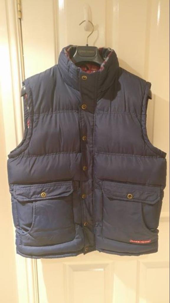 Tokyo Laundry navy gilet / padded vest size large