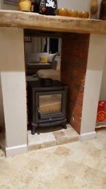 Log burner double sided - brand new unused