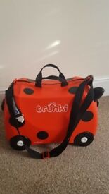 Childrens Trunki Suitcase Red Ladybird
