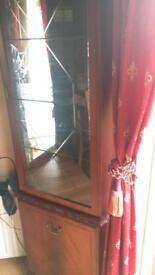 Mahogany Corner Unit / Display Cabinet
