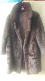 Vintage real fur coat. Immaculate condition 1960s real fur coat. Fits size 12 to 14. Hardly worn